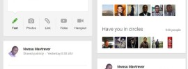The new looks of Google+