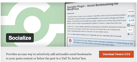 socialize - Social Share Plugins