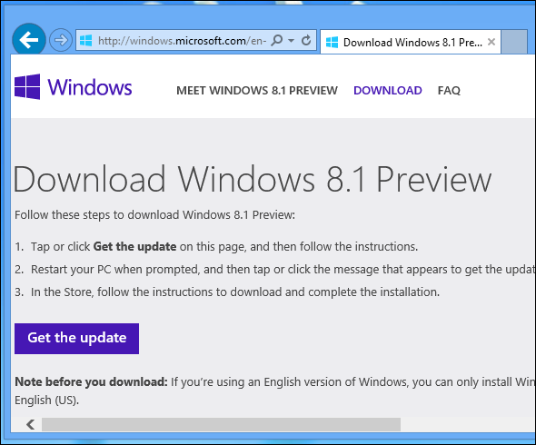 get windows 8.1 update