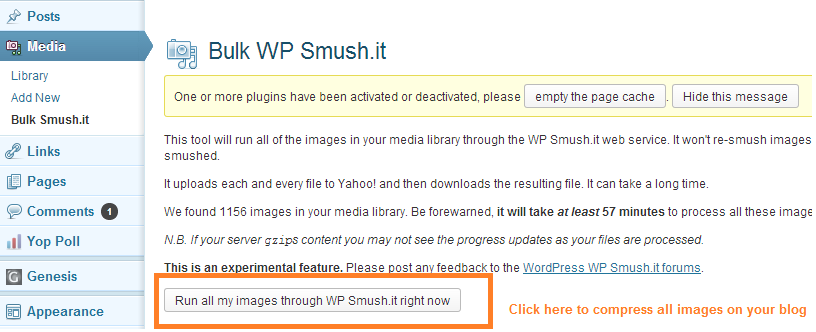 How to compress images on WordPress using Smush.it